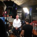Steve Scanlon discussing the Jones-Scanlon studio monitors