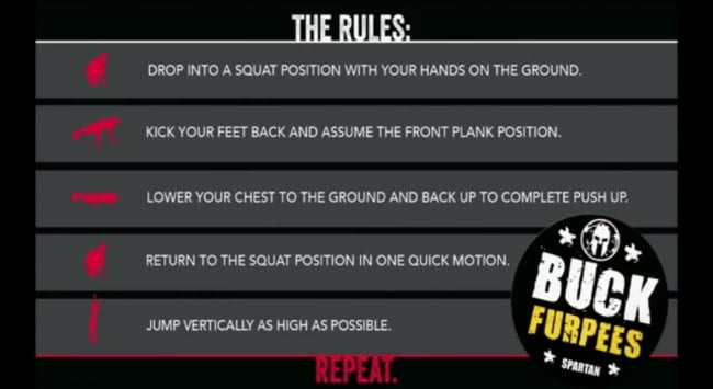 How to do a burpee, Spartan Race