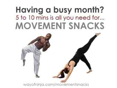 Indulge in movement snacks throughout the day