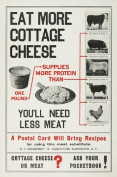 Did you that in World War 1, the US Military encouraged people to eat cottage cheese as an alternative to meat?