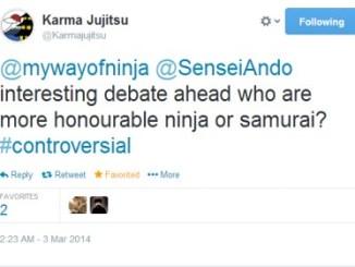 Ninja vs Samurai tweet