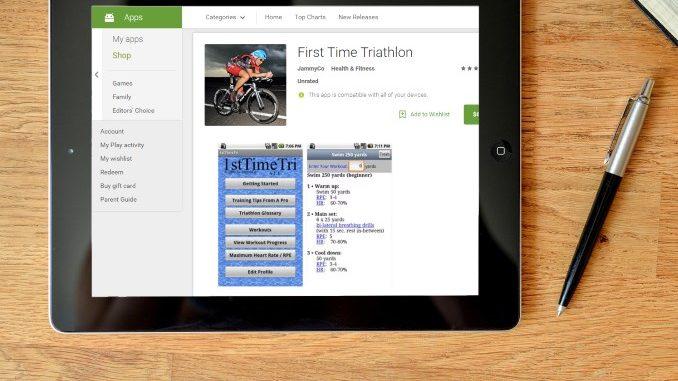 First Time Triathlon app