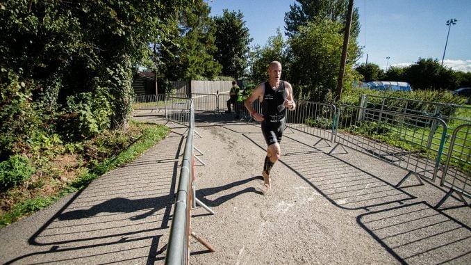 Begin with a short triathlon-style race
