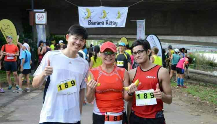 Banana Relay 2014 (with my ex-platoon mate and new friend)