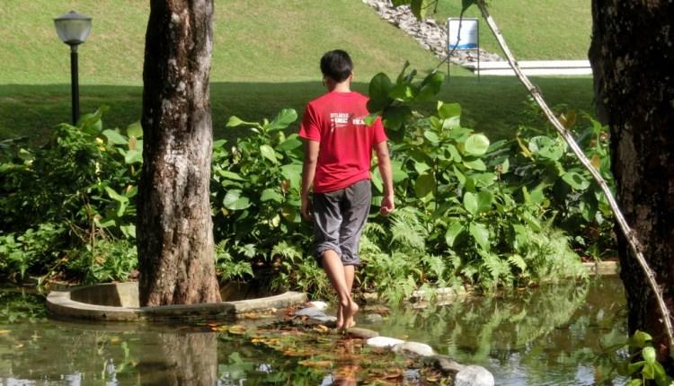 Barefoot walking and balance