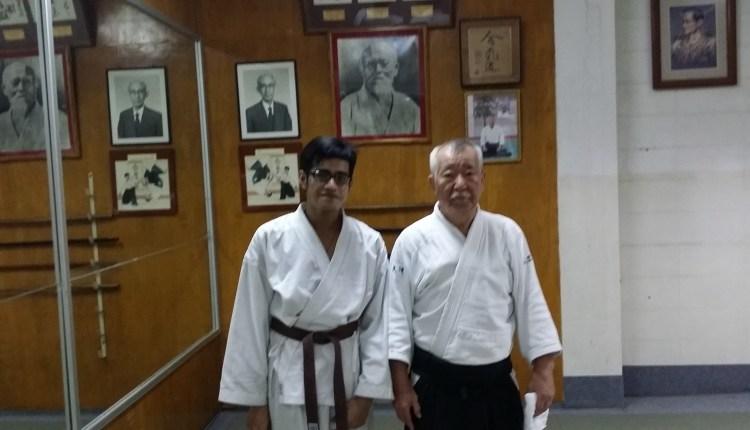 Logen & Fukakusa Shihan at Aikido Rembukan Bangkok (2014)