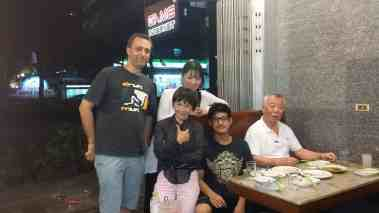 Renbukan Aikido Bangkok senseis, senpais and Logen having dinner 2014 (with Fukakusa Shihan)