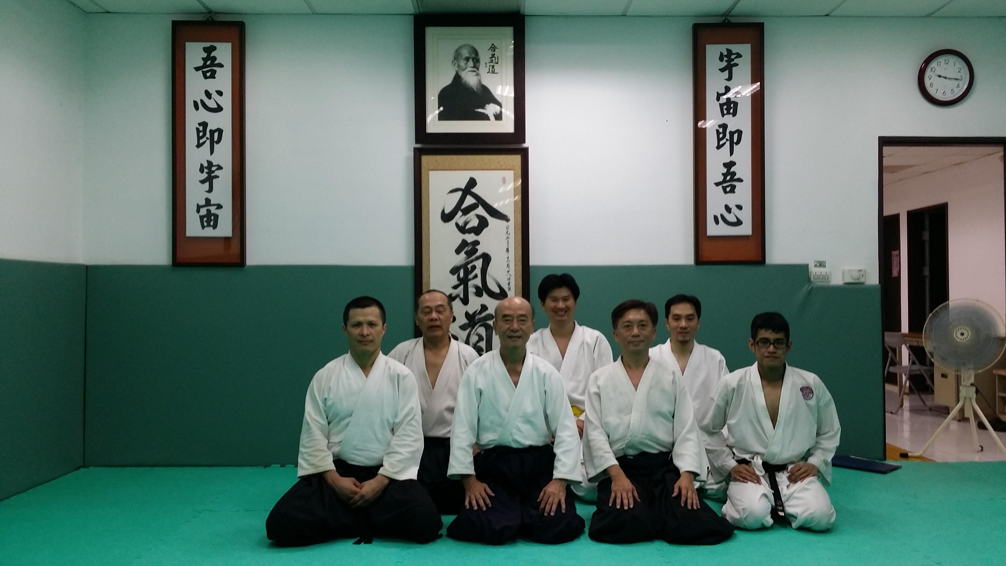 Training at Da-An Aikido in Taipei, Taiwan