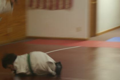 Larry lying down