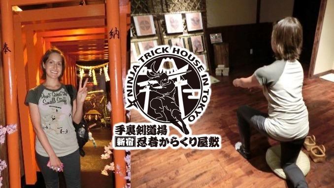 Valerie Taylor at the Shinjuku Ninja Trick House (Way Of Ninja)