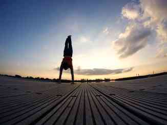 Handstand in the morning