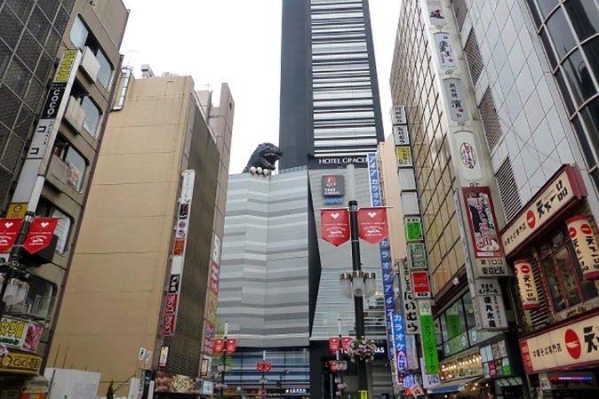 Photo of Kabuki-cho in Shinjuku from Ninja Trick House in Tokyo