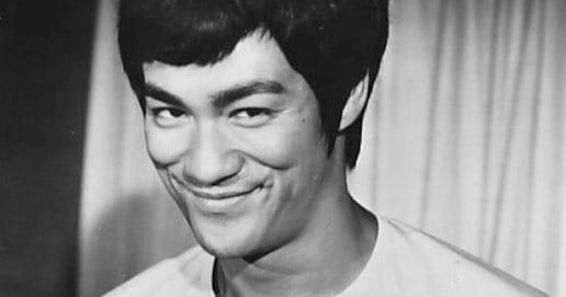 """[True/False] Bruce Lee once wrote cheeky captions on his young sons's (Brandon Lee's) drawings. One of them was: """"Fat Nipples Lady""""."""