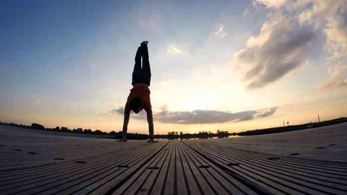 Handstand - fine muscle control and balance