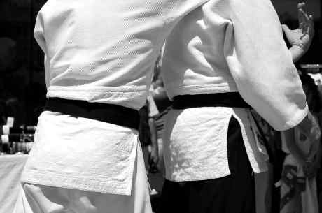 What did the black belt originally represent?