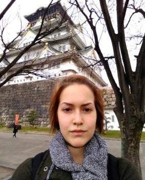 Valerie at Osaka Castle (420)