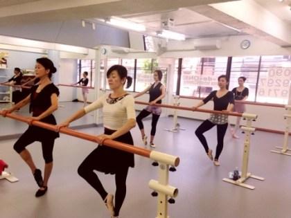 Valerie Taylor doing ballet