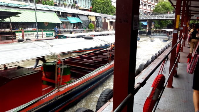 Taking the Khlong Boat