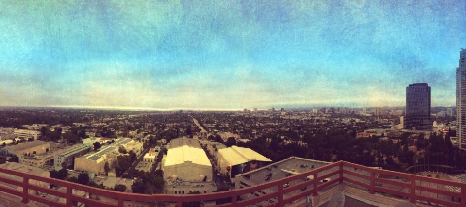 View of Los Angeles from the Helipad