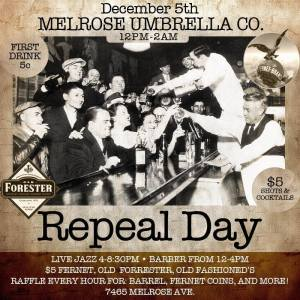 Repeal Day at Melrose Umbrella