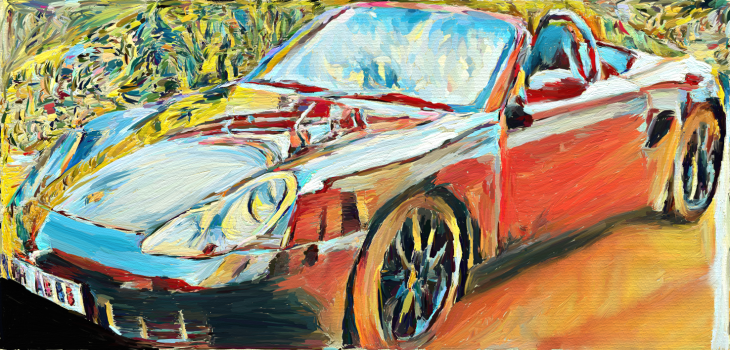 Painting of my Porsche Boxster S 986