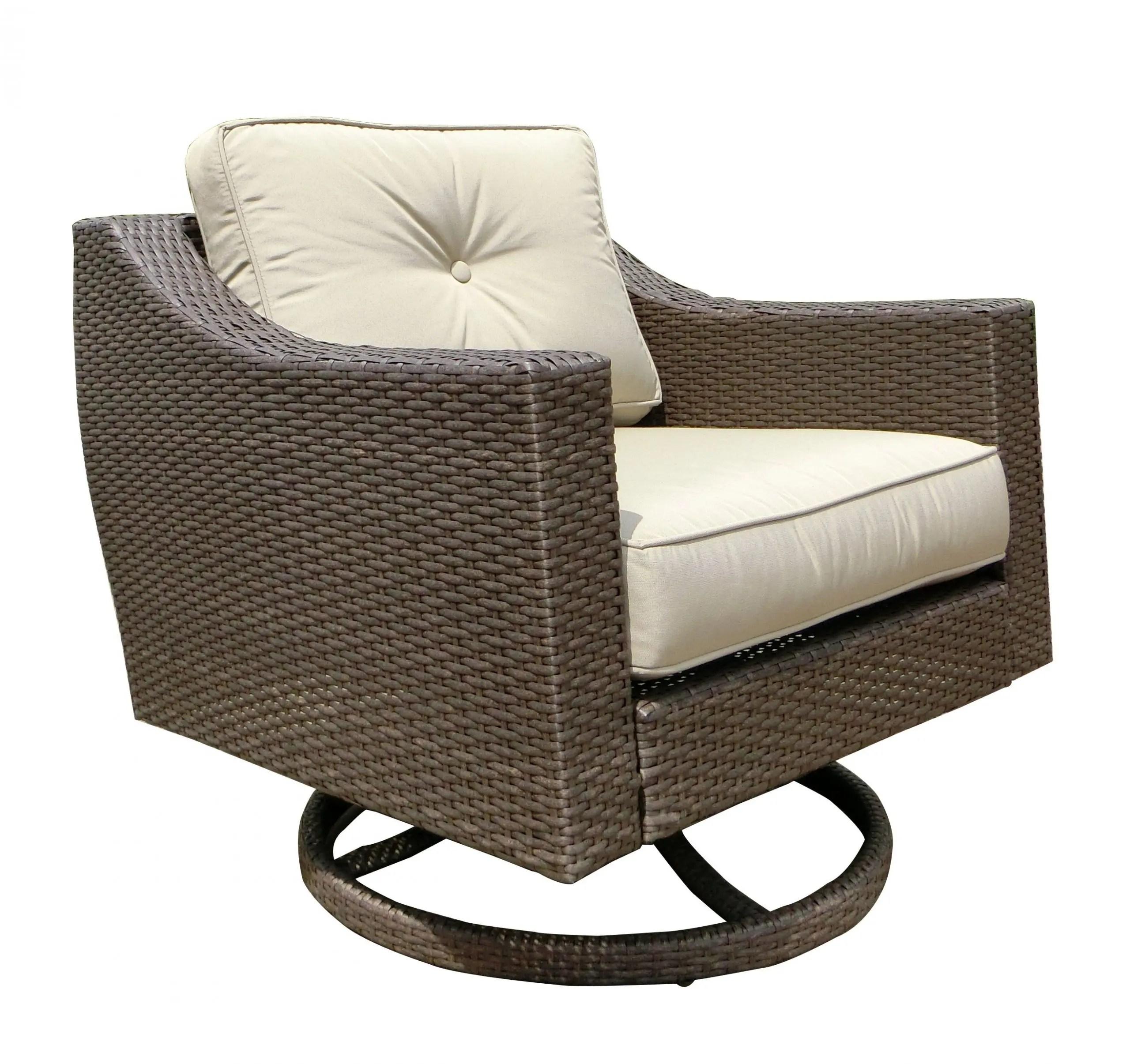 south beach club swivel rocker outdoor patio furniture wicker resin rattan