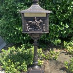 Mailbox Post Mounted Heavy Duty Cast Aluminum Bronze With Keys Locking Door Mail Flap Waystock