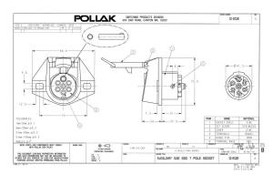 Pollak 12812EP 7Way Connector Socket | Waytek Wire