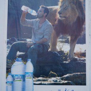 Publicité pour de l'eau au Maroc