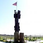 9-11 monument iron beams in Kennewick, Wa.