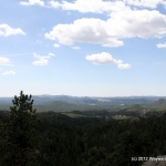 Looking south over the Black Hills of SD