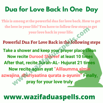 Dua for Love Back In One  Day