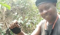 Proud Rivers Man Kills Long Dangerous Snake in the Forest
