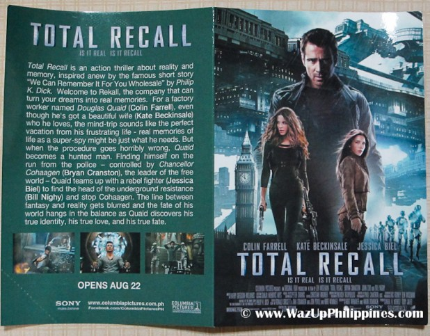 Total Recall Movie 2012 Advance Screening Ticket Outer