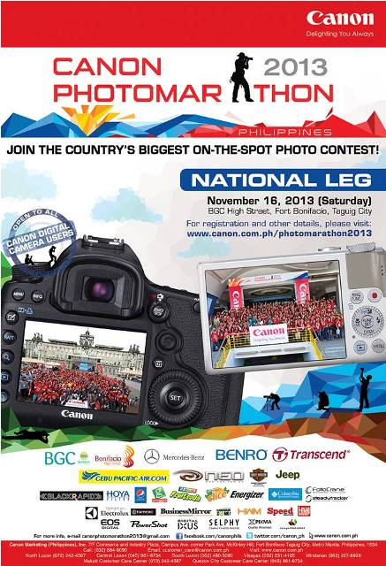 Canon Photomarathon National Leg 2013 Poster