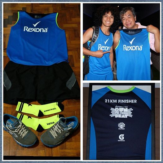 ted claudio with coach rio for rexona 2014 run
