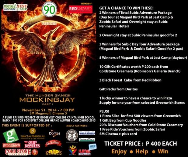 the hunger games mockingjay part 1 poster block screening november 21 2014