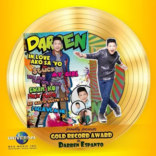 Darren Espanto Album Darren Now Gold by MCA Music