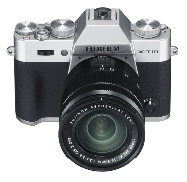 Fujifilm X-T10 silver with 16-50mm lens
