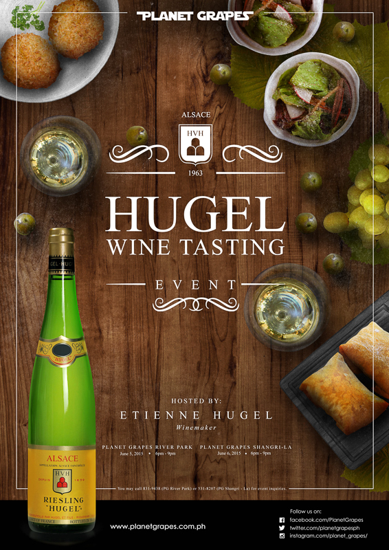 Hugel Wines at Planet Grapes Shangrila-Hugel Wine Tasting Event