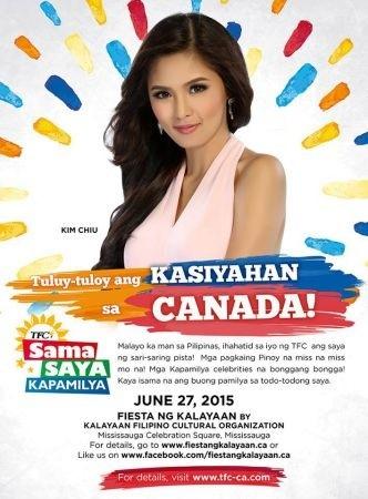 Kim Chui in Kasiyahan sa Canada Kalayaan Filipino Cultural Organization