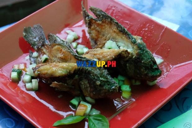 Paru-Parong Tilapia with Sweet Tamarind Sauce - St Nicholas Resto Mandaluyong-DSCF3304