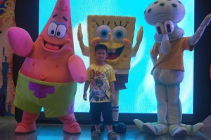 SpongeBob SquarePants  with Patrick Star and Squidwords