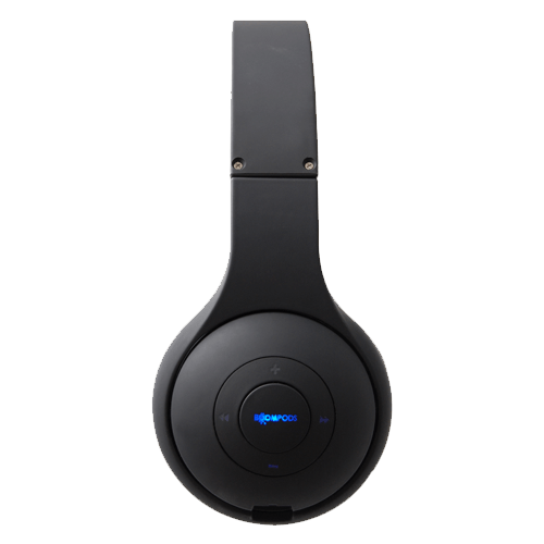 boompods wireless headpods headset-black