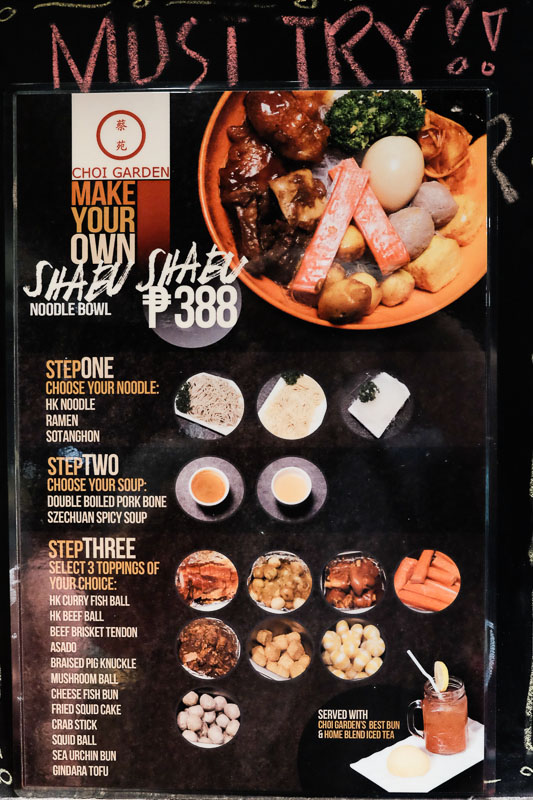 Choi Garden For Php 388, make your own Shabu Shabu Noodle Bowl