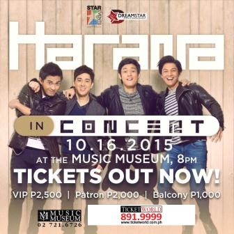 Harana In Concert Poster with Bryan Santos, Joseph Marco, Marlo Mortel and Michael Pangilinan