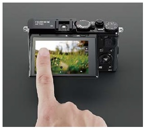 Fujifilm X70 touch screen