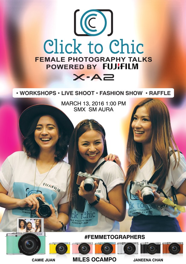 Miles Ocampo Camie Juan Janeena Chan Fujifilm Click to Chic Womens Month Event How to Register