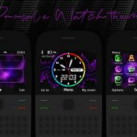 Themes Purple for Nokia C3-00 X2-01 Asha 200 Asha 302