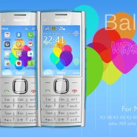 Flat Balloon theme for Nokia 515 X2-00 240x320 S40